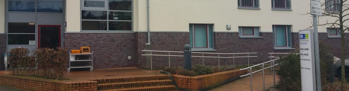 Klinikgebäude von außen